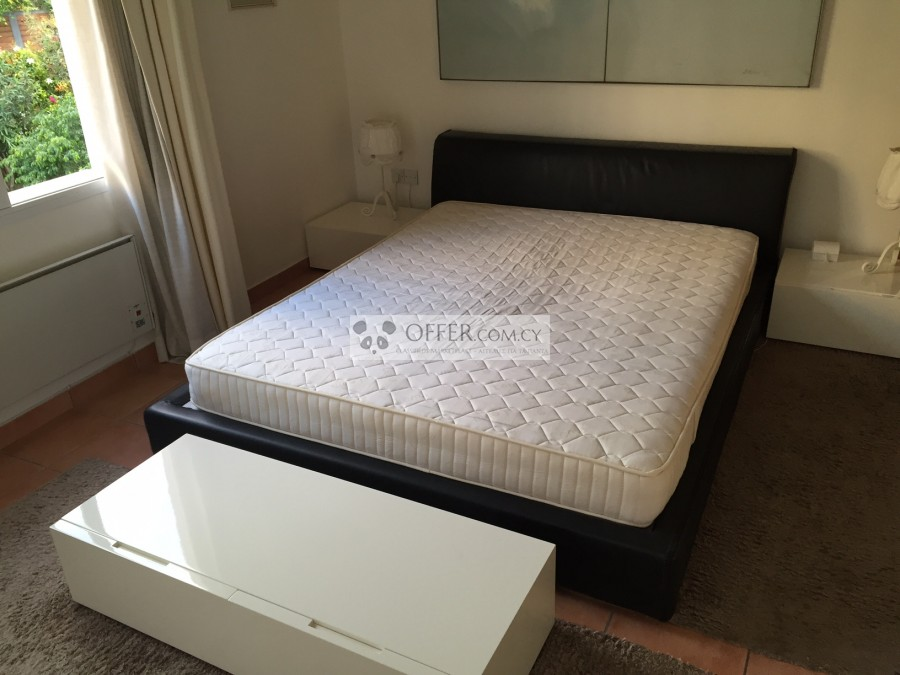 86395448fb Gennuine Soft leather frame Bed   Mattress with 2 side tables   1 front  double drawer