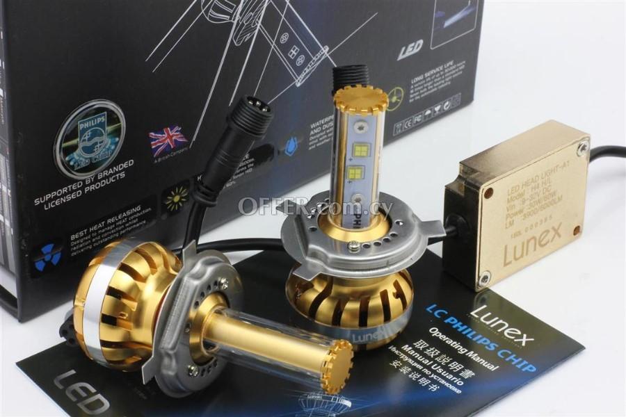 h7 led lunex bulbs 120watt xenon replace philips chip 54839en cyprus car electrical. Black Bedroom Furniture Sets. Home Design Ideas