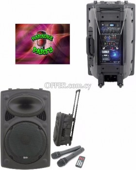 Portable Karaoke Speakers for rent 70 euros per night/day karaoke Party Events