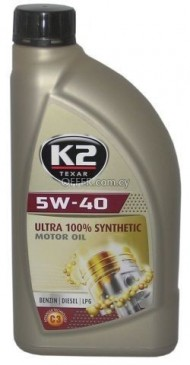 K2 5W-40 100 % SYNTHETIC OIL 1 LT