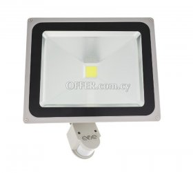 LED FLOODLIGHT WITH PIR 50W