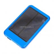 Solar Power Bank 5000mAH blue