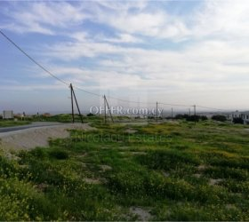 Newly cut residential plot (265m2) for sale in a very good location in Kolossi, Limassol - 10976