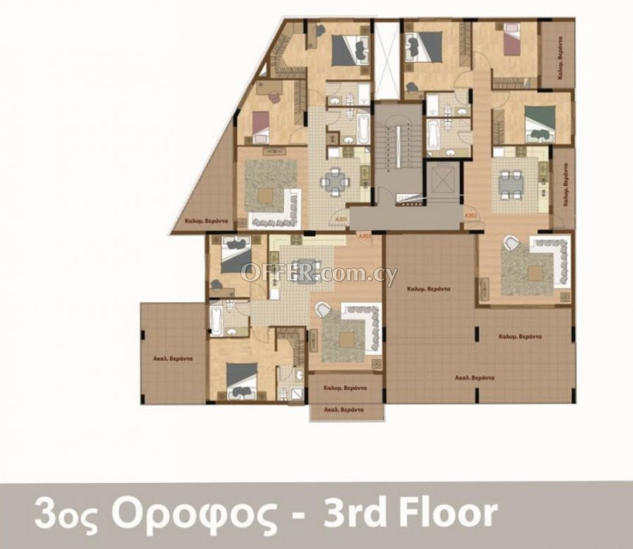 B401 - New Apartments In Kaimakli For Sale - 3