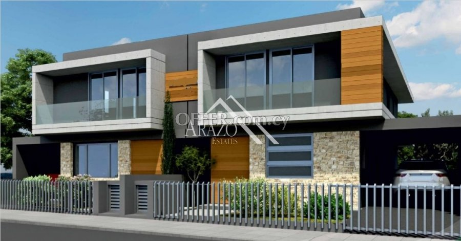 4 Bed Semi-Detached Villa For Sale in Livadia, Larnaca - 1