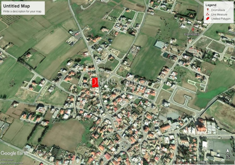 Building Plot 1040 sm in Dromolaxia, Larnaca - 1