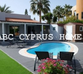 Renovated bungalow in Paphos on Coral Bay resort. Title deeds