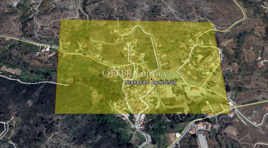 ** RESIDENTIAL LAND IN ARAKAPAS VILLAGE - LIMASSOL ** - 1