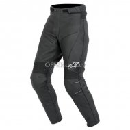 Alpinestars Bat Leather pants Logo   Black