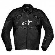Alpinestars SMK Leather Jacket   Black