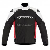 Alpinestars Gunner Waterproof Jacket Black   Red  White
