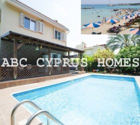FREEHOLD VILLA IN PAPHOS Coral Bay BEACH RESORT-ABC CYPRUS HOMES