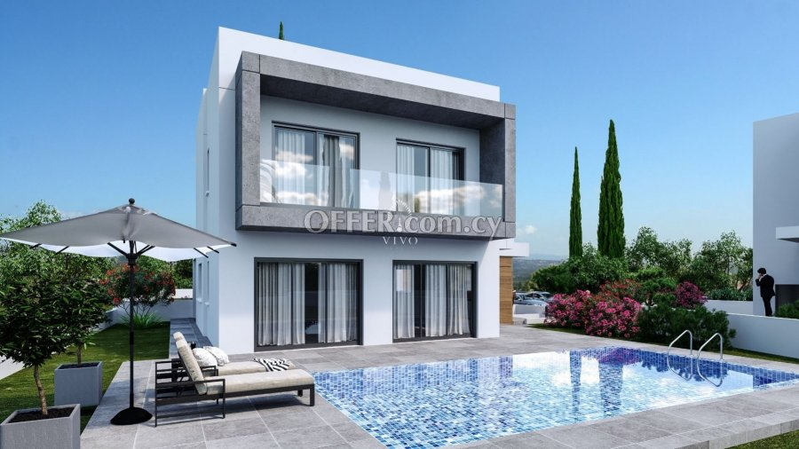 3 BEDROOM DODERN DESIGN VILLA UNDER CONSTRUCTION IN PAREKLISIA - 2