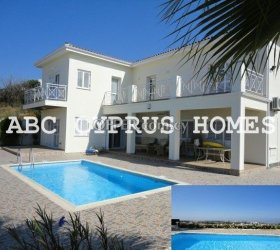 3 bedroom Villa with stunning sea views in Tala, Paphos-ABC Cyprus Homes