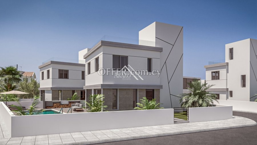 4 Bedrooms Detached Villa with Sea Views Attached to Green Area, Kapparis - 6