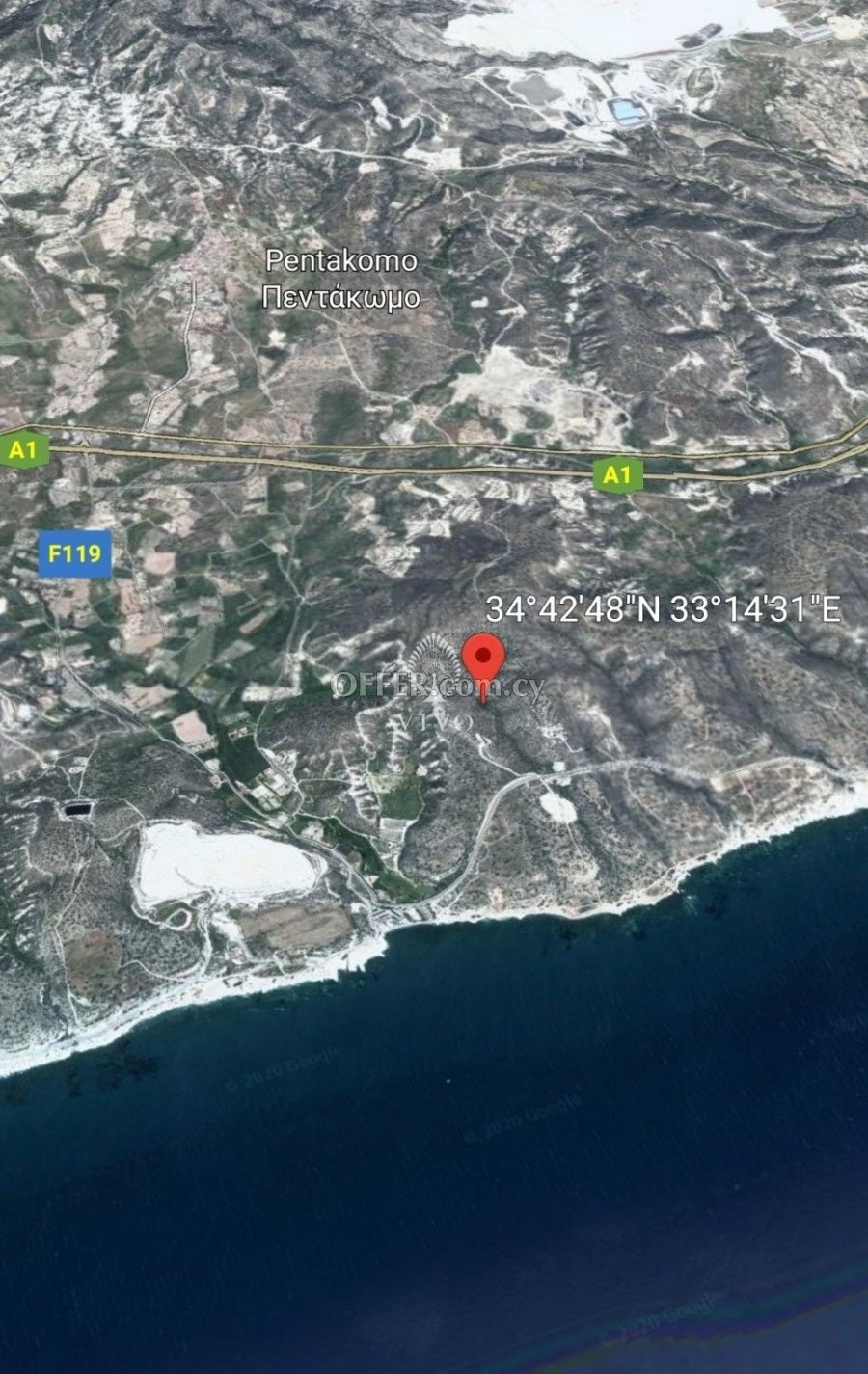 RARE LAND OF 64215m2 FOR SALE IN PENTAKOMO - 1