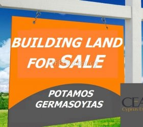 BUILDING PLOT FOR SALE 530m2, IN POTAMOS GERMASOYIAS 80% BUILDING CO-EFFICIENT