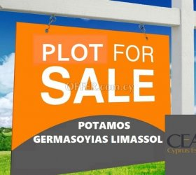 BUILDING LAND FOR SALE 643m2, IN POTAMOS GERMASOYIAS, LIMASSOL 30% CO-EFFICIENT