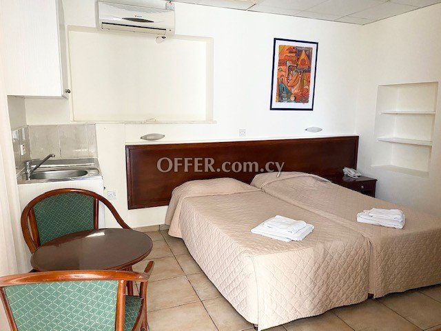 Private Studio with balcony fully furnished in Paphos upper City Centre near all shops bus stop & amenities - 6