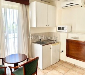 Studio with balcony fully furnished all utilities included Paphos upper City Centre near all shops bus stop & amenities (photo 0)