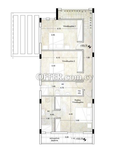 Modern 3 bedroom under construction house in north district areas of Limassol - 2