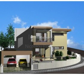 Brand new three bedroom semi-detached corner house under construction in Agia Fila - 15115