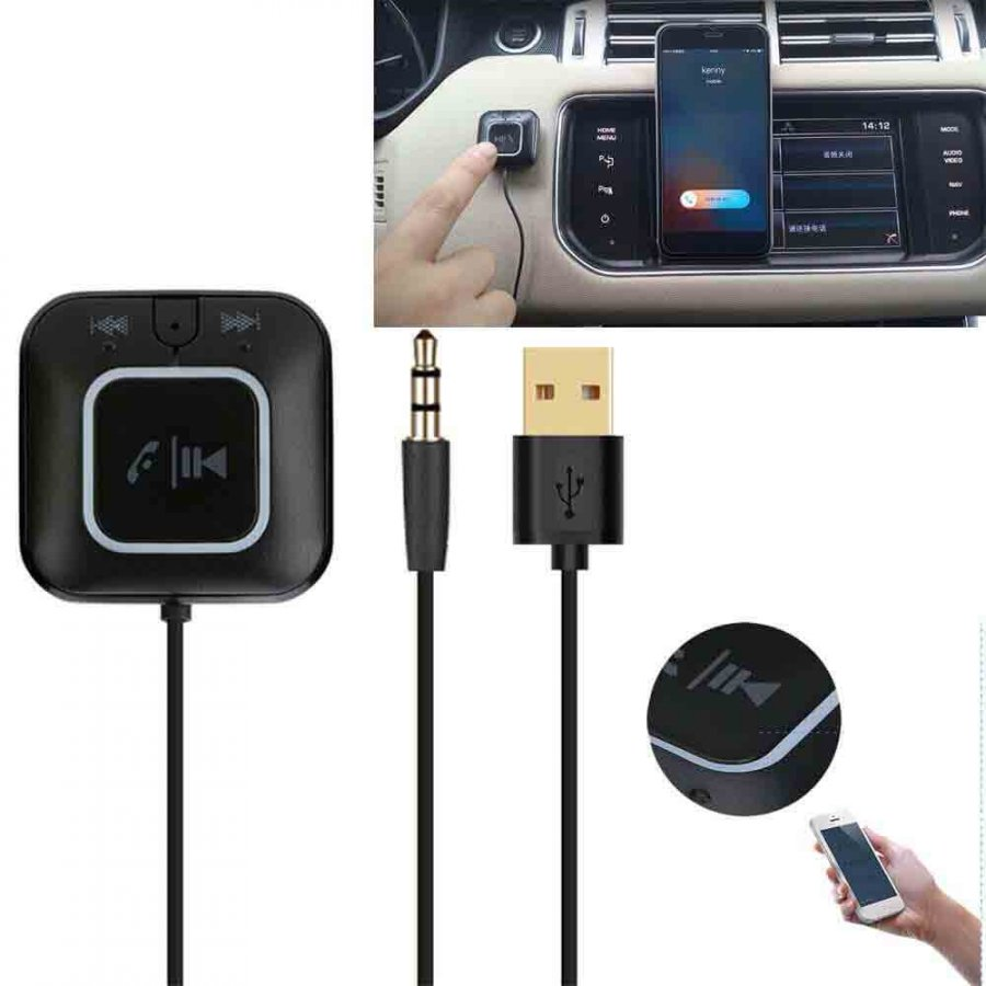 AUX Bluetooth Music Receiver Multipoint Connection Car kit Handsfree T - 1