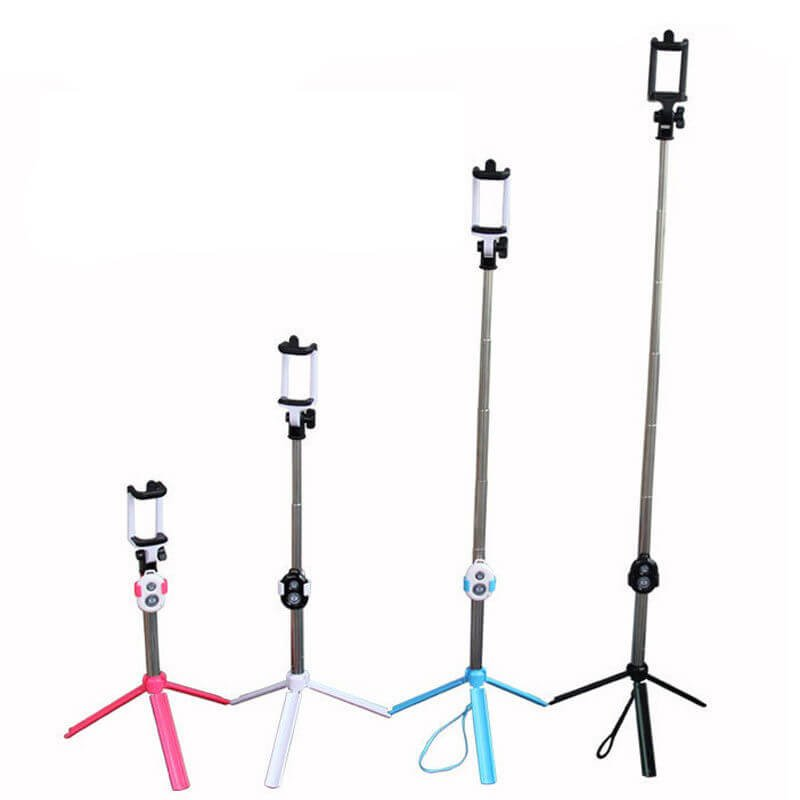 Extendable Selfie Stick Tripod With Bluetooth Remote Control - 1