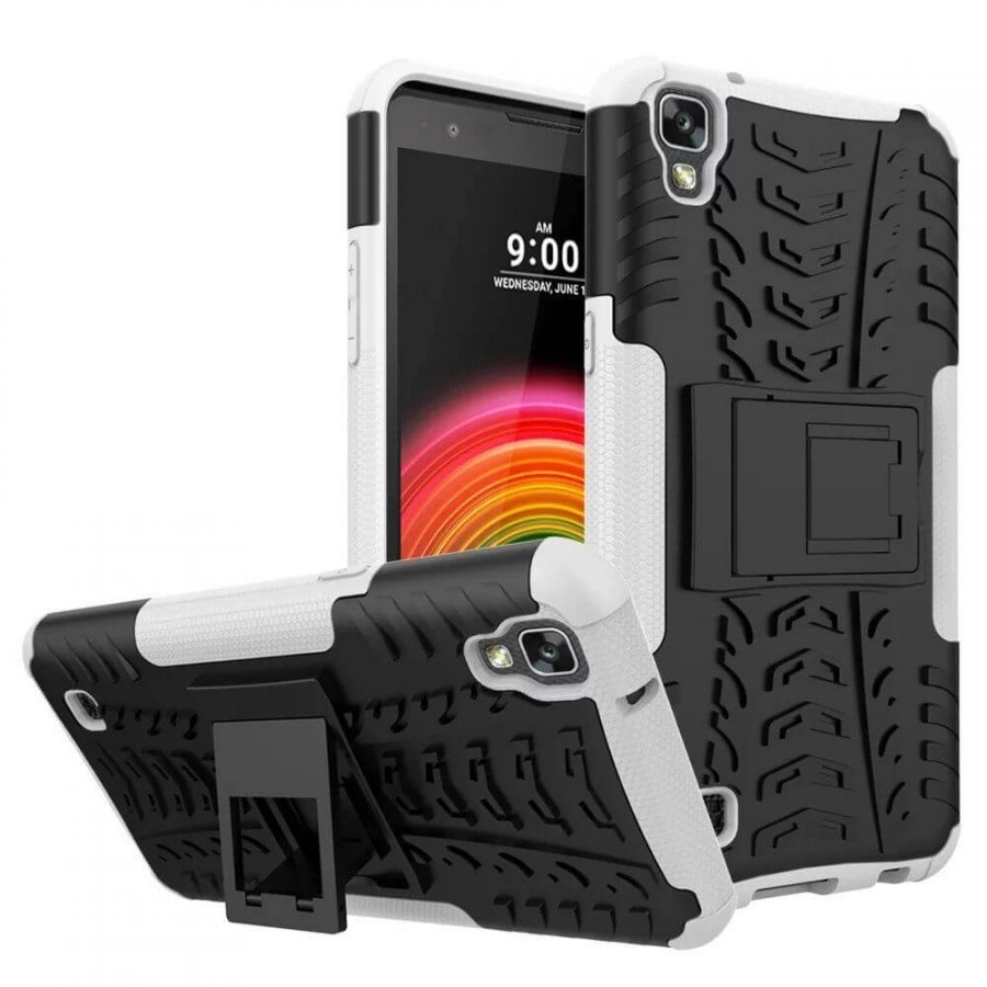 2 in1 Heavy Duty Armor Stand Case For LG XPOWER Back Cover Shockproof  - 1