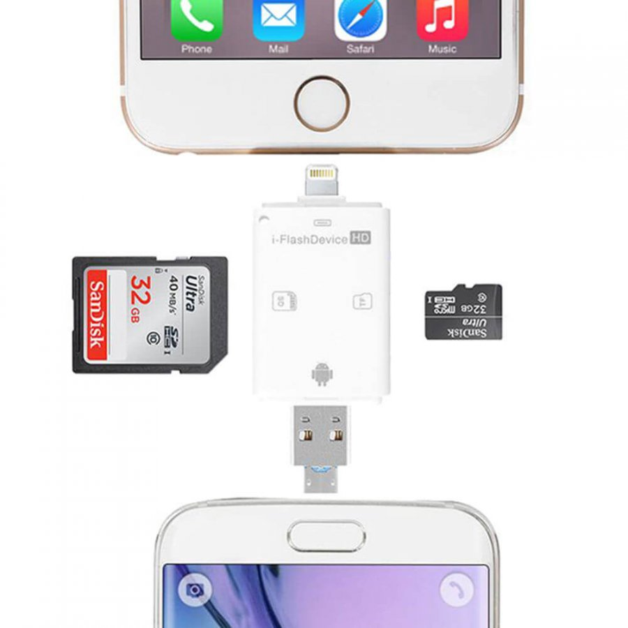 Micro SD Reader USB iFlash OTG Stick For iPad iPhone Android Computer - 1
