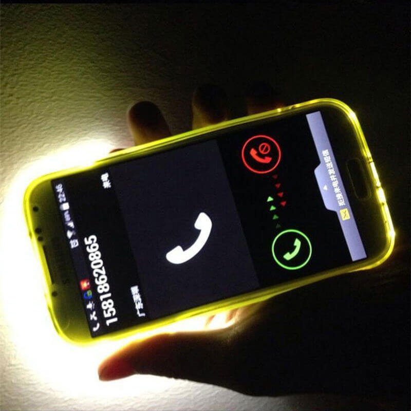 Incoming Call LED Flashing Light Up Case Cover Skin for Samsung Galaxy - 1