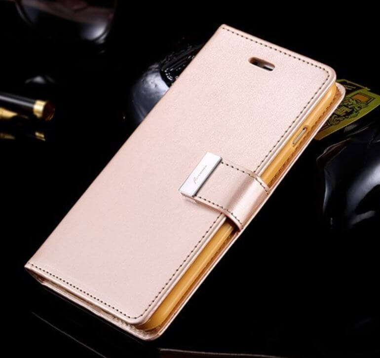 Glamourous woman Flip Case with invisible card slot wallet for iPhone  - 1