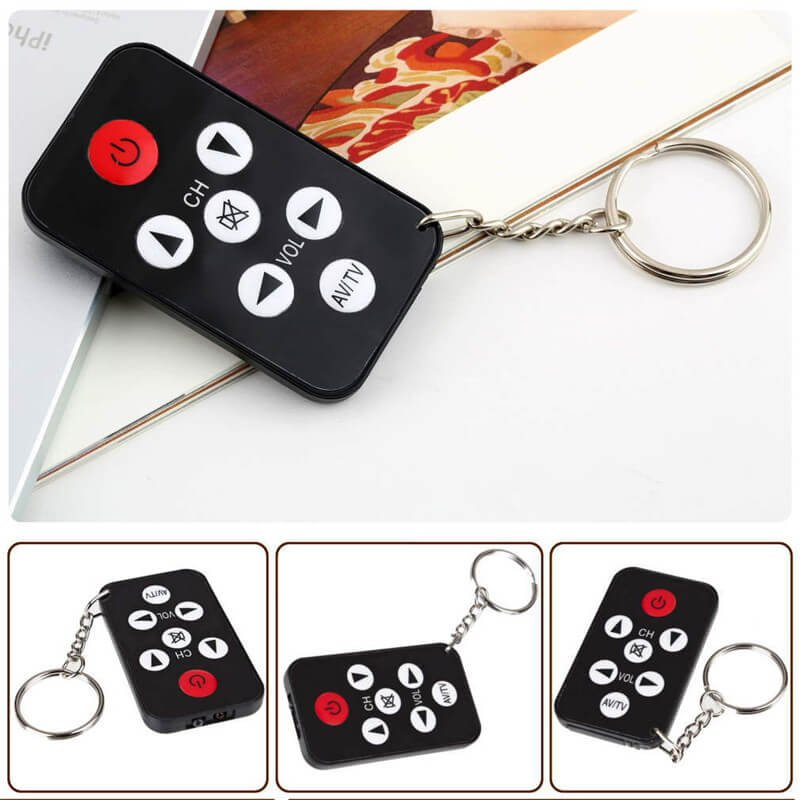 Mini Universal Infrared IR TV Set Remote Control Keychain - 1