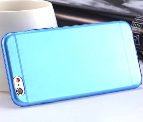 Case for iphone 6 6S tpu silicon ultra thin 0.3mm Blue - 1