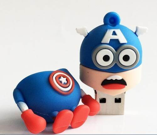 Usb flash drive 16GB pen Captain America super hero minions lovely car - 1