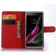Magnetic Leather Flip Case Stand Wallet PU For LG ZeroClass Red - 1