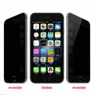 Black Privacy Tempered Glass for Apple iPhone 6 6S 4.7ampquot - 1