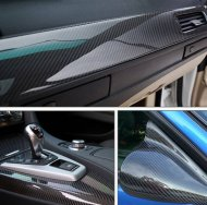 5D High Glossy Carbon Fiber Vinyl Film Car Styling Wrap Motorcycle Acc - 1