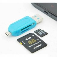 External Micro SD Card Reader Adapter 2 in 1 OTG Universal for smarthp