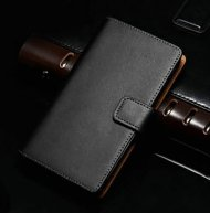 Luxury Real Leather Flip Wallet Case For Samsung Galaxy S2 I9100 - 1