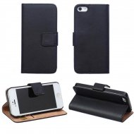 Flip Leather Case for Apple iphone 5C Black