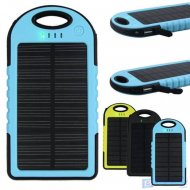 Solar Camping Waterproof Power Bank 5000mAh Battery Charger for portab