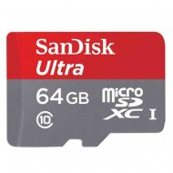 SanDisk Ultra 64GB Micro SD Class10 48MBs with Adapter Memory Card