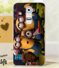 Case for LG G2 Hard Back Cover Minion Despicable Me Celebration - 1