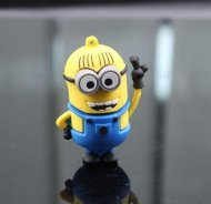 USB Flash Drive 4GB Despicable Me Minions Blue Waving minion Cartoon S