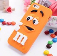 Silicon Case for iphone 6 6S Rubber Soft Back Cover 3D Cute MM Orange