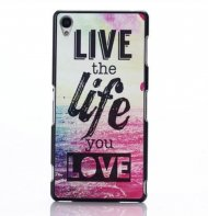 Hard Case for Sony Xperia Z2 Back Cover Live the life you Love