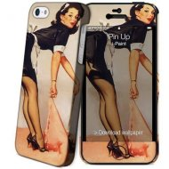 Ipaint Pin Up Paint Hard Case  Skin Free Screen protector For iphone 5 - 1