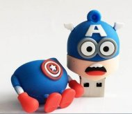 Usb flash drive 16GB pen Captain America super hero minions lovely car