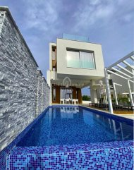 LUXURY DETACHED THREE PLUS TWO BEDROOMS HOUSE IN KOKKINES AREA